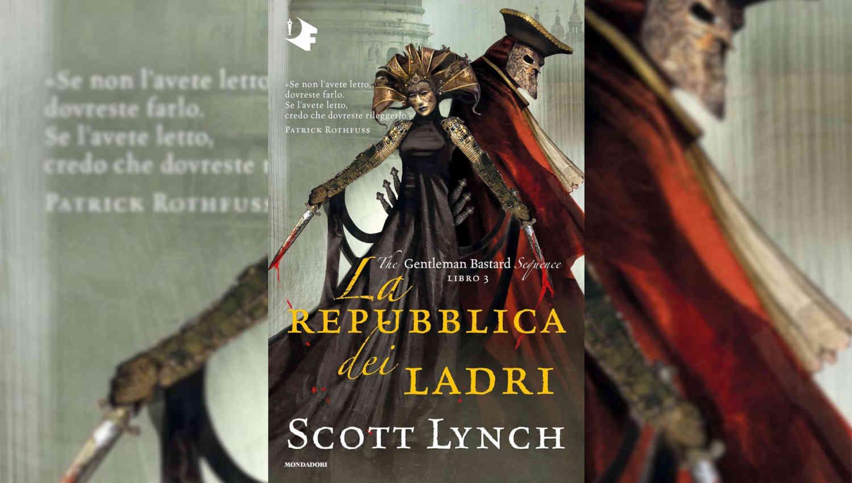 La storia di Locke Lamora continua nel terzo romanzo della saga The Gentleman Bastard: La repubblica dei ladri.
