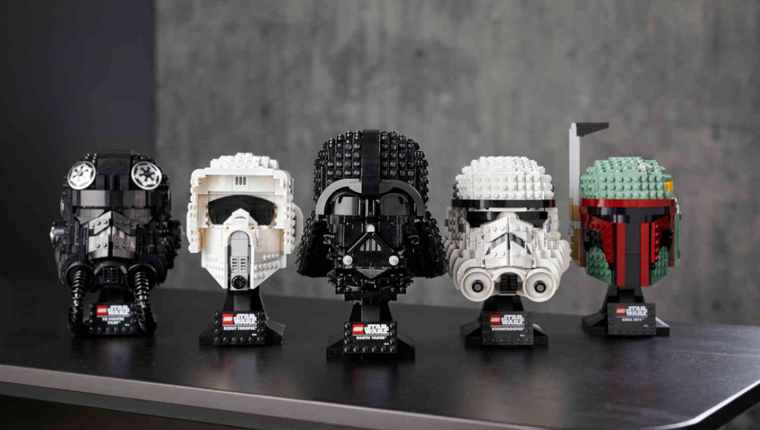 Lego Star Wars: i busti di Darth Vader e Scout Trooper
