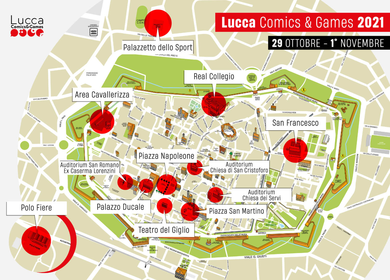 Mappa Lucca Comics & Games 2021