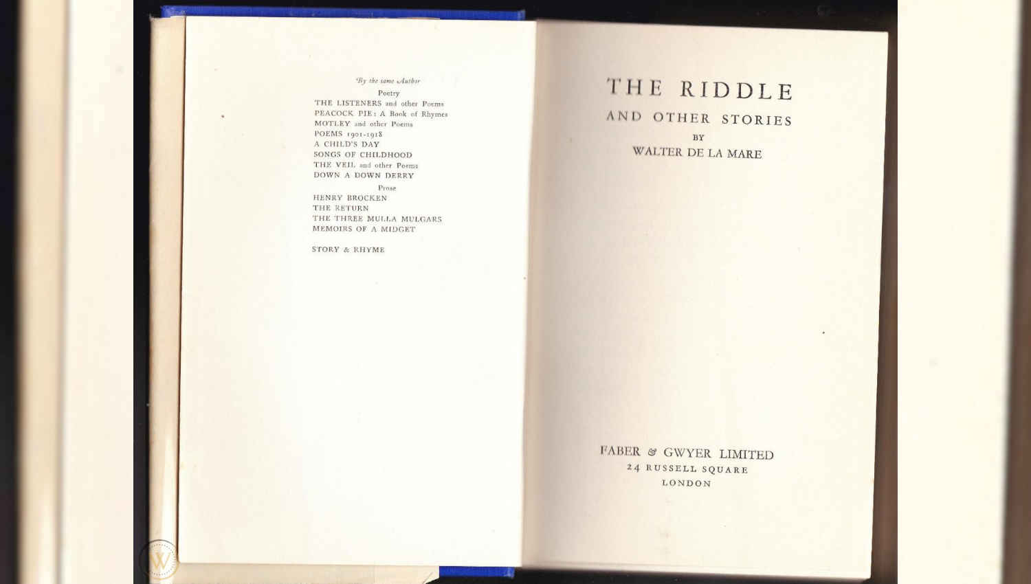 The Riddle And Other Stories di Walter De La Mare
